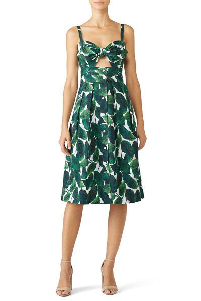 Milly-Banana-Leaf-Jordan-Dress