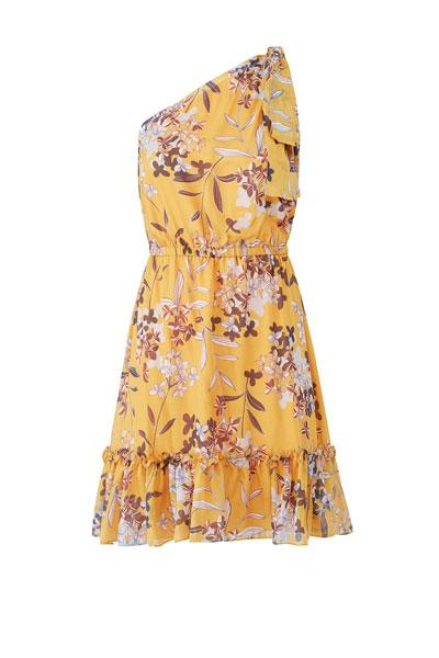 Shoshanna-Yellow-Carmela-Dress