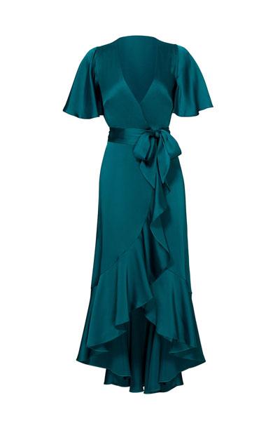 Temperley-London-Emerald-Parrot-Wrap-Dress